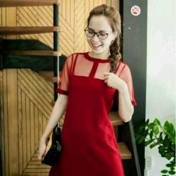 Đầm suông cách điệu