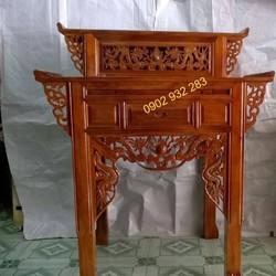 bàn thờ gỗ tự nhiên 2 tầng BT 107