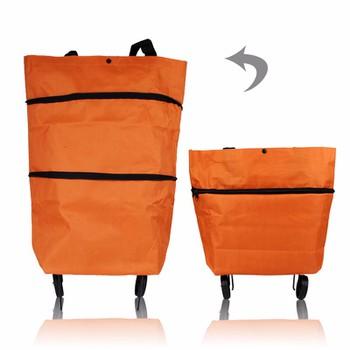 Túi xách đi chợ đa năng có bánh xe kéo