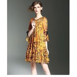 Đầm Suông Bầu Hoạ tiết