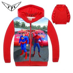 [size 9-15] Áo khoác bé trai 3D hoạ tiết siêu anh hùng