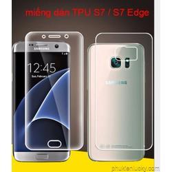 Bộ miếng dán màn hình tpu dẻo BV mặt trước và sau Samsung. galaxy s7