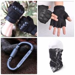 Găng tay xe máy Tặng khăn và móc khóa