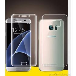 Bộ miếng dán màn hình tpu dẻo bảo vệ mặt trước + sau SS galaxy s6 edge