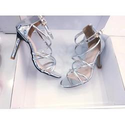 giày cao gót 7 cm dây chéo