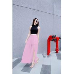 Set Áo Croptop váy xẻ Tà hàng thiết kế Cao Cấp