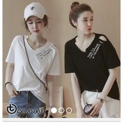 Áo thun Korea đan dây vai xinh xắn - hàng nhập