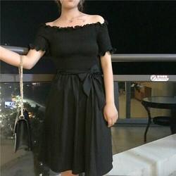 Đầm bẹt vai nhúng