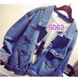 Áo khoác jeans nữ màu cổ điển bụi phong cách
