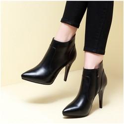 Giày boot nữ cao gót đơn giản sang trọng GBN15701