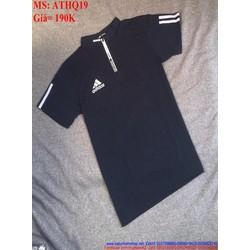 Áo thun nam ôm body phong cách thể thao AD ATHQ19