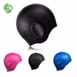 Mũ bơi Silicone - Nón bơi trùm tai thời trang cao cấp POPO Sports