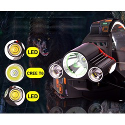 Đèn pha LED siêu sáng sạc pin chiếu xa T6
