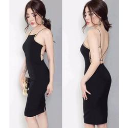 Đầm ôm body sexy hở lưng D929
