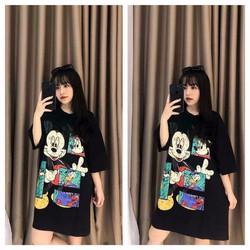 Đầm thun mickey đen siêu cute