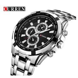 Đồng hồ Curren dây inox bạc thể thao