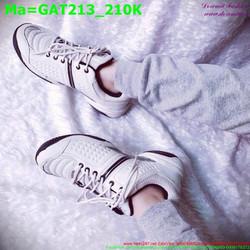 Giày thể thao nam cổ thấp màu trắng sành điệu GAT213