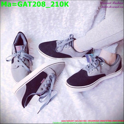 Giày thể thao cổ thấp màu xám đen sành điệu GAT208