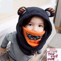 Mũ len giữ ấm mùa đông + Tặng kính tai thỏ không tròng