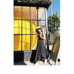 Đầm maxi chấm bi
