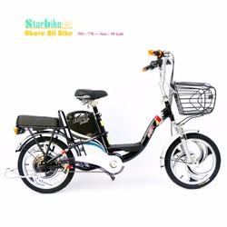 Xe đạp điện gái bình dân khung sơn 18 inch