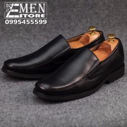Giày lười nam thời trang dáng công sở màu đen 1529MKD