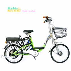 xe đạp điện khung inox - bánh căm 22 icnh