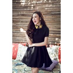 Đầm Xòe Tay Con Xếp Ly Phương Trinh _ko kèm vòng cổ