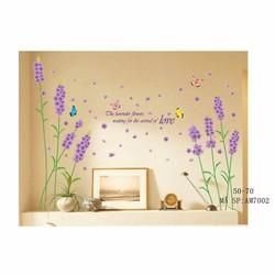 Decal dán tường hoa oải hương