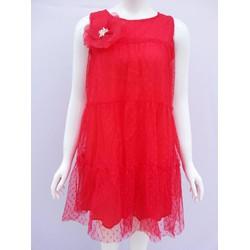 Đầm suông lưới chấm bi - monmon shop