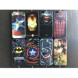 Ốp lưng iPhone 5-5s-Se dẻo hình Siêu Anh Hùng in nổi