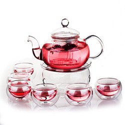 - Bộ ấm chén pha trà thủy tinh cao cấp
