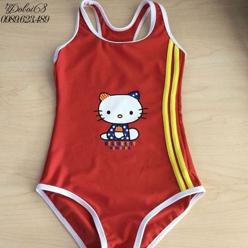 Đồ bơi cho bé Một mảnh mèo ngộ ngĩnh B08Do-5-6