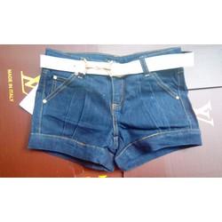 Quần short jean kèm dây lưng