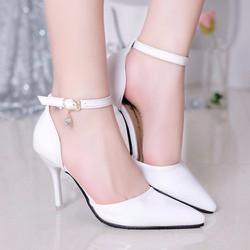 Giày cao gót quai cài đính đá cao cấp Lady-CG97