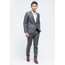 Bộ vest nam  chuẩn đẹp Titishop BVN27 màu xám cao cấp