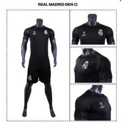 Bộ đồ đá banh Real Madrid C1 đen
