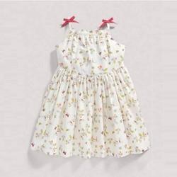 Đầm hai dây hoa nhí