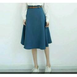 Chân váy dài kèm belt