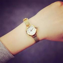 Đồng hồ vàng nữ dây mỏng quý phái