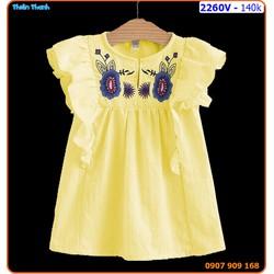 Đầm linen thêu hoa cực xinh xắn cho bé yêu