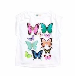 Áo thun hình bướm 3D H-M cho bé gái 1-8T A567