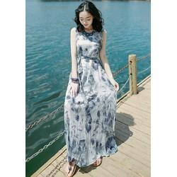 Đầm maxi họa tiết cực đẹp