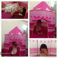 Lều công chúa hồng tử cho bé