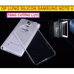 ỐP LƯNG SILICON NOTE 4
