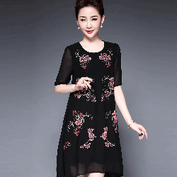 Đầm suông nữ hoạ tiết cực xinh DS332