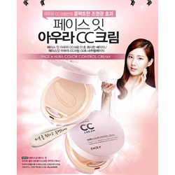 Kem nền CC Cream Face It Aura Color Control Cream TheFaceShop