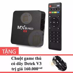 Android TV Box MXQ Pro 4K tặng Chuột game thủ có dây V3