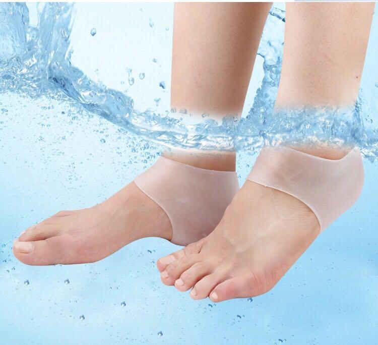 2 đôi Vớ silicon bảo vệ, giảm nứt nẻ gót chân Nam, Nữ- Chăm sóc chân 4