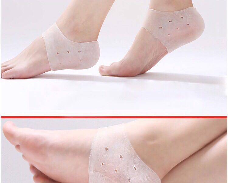 2 đôi Vớ silicon bảo vệ, giảm nứt nẻ gót chân Nam, Nữ- Chăm sóc chân 5